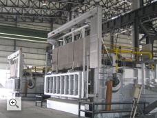 65 tons tilting casting furnace
